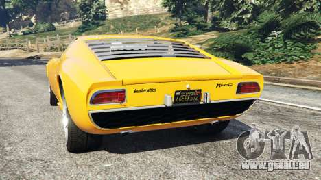 GTA 5 Lamborghini Miura P400 1967 arrière vue latérale gauche