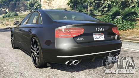 GTA 5 Audi A8 hinten links Seitenansicht