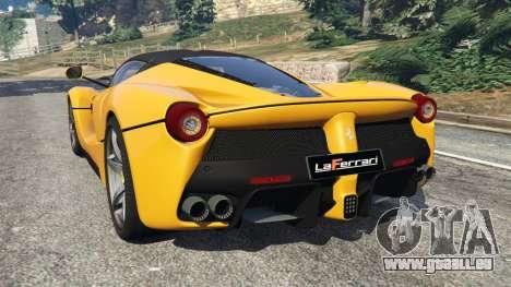 GTA 5 Ferrari LaFerrari 2013 v3.0 arrière vue latérale gauche