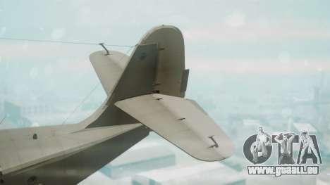 Grumman G-21 Goose Grey pour GTA San Andreas sur la vue arrière gauche