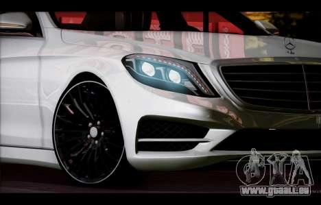 Mercedes Benz S63 W222 Des Articles De Qualité pour GTA San Andreas vue de dessus