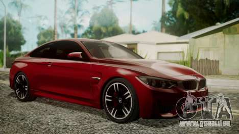 BMW M4 Coupe 2015 Walnut Wood pour GTA San Andreas