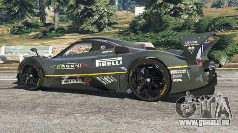 GTA 5 Pagani Zonda R 2009 v0.5 arrière droit vue de côté