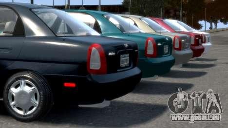 Daewoo Nubira I Sedan SX USA 1999 pour GTA 4 roues