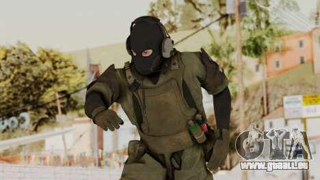 MGSV Ground Zero MSF Soldier für GTA San Andreas