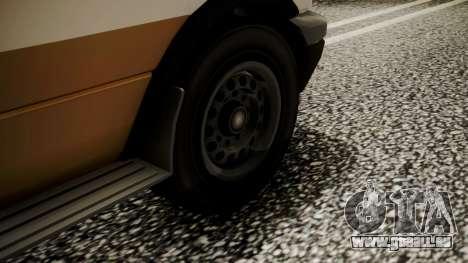 GTA 5 Brute Ambulance für GTA San Andreas zurück linke Ansicht