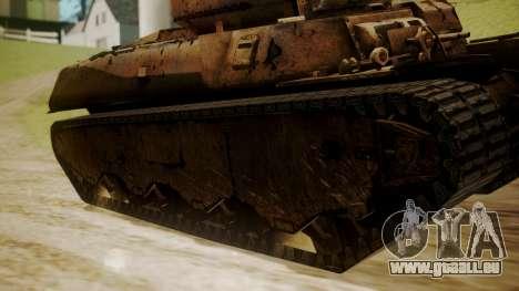 Heavy Tank M6 from WoT für GTA San Andreas zurück linke Ansicht
