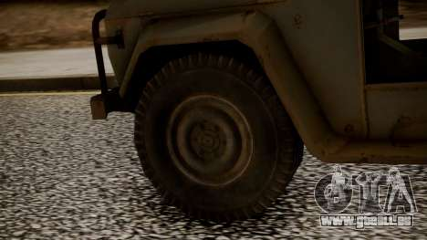 UAZ MGS5 TPP für GTA San Andreas zurück linke Ansicht