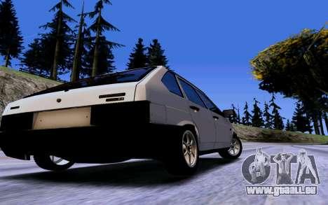 VAZ 2109 Turbo pour GTA San Andreas vue intérieure