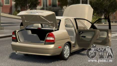 Daewoo Nubira II Sedan SX USA 2000 pour GTA 4 vue de dessus