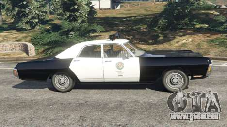 GTA 5 Dodge Polara 1971 Police v4.0 vue latérale gauche