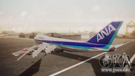 Boeing 747SR All Nippon Airways (NC) pour GTA San Andreas sur la vue arrière gauche