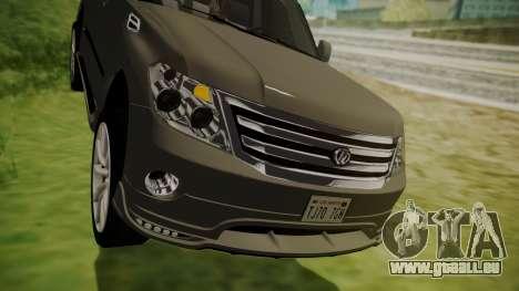 Nissan Patrol IMPUL 2014 pour GTA San Andreas vue de côté
