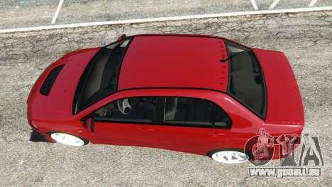 GTA 5 Mitsubishi Lancer Evolution IX Dk vue arrière