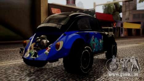 Volkswagen Beetle Vocho-Buggy pour GTA San Andreas laissé vue