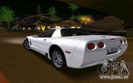 Chevrolet Corvette C5 2003 für GTA San Andreas zurück linke Ansicht