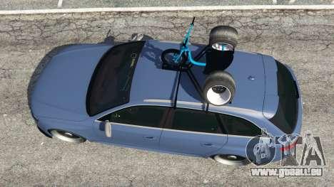 GTA 5 Audi RS4 Avant 2014 vue arrière