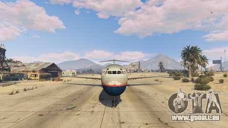 GTA 5 McDonnell Douglas MD-80 cinquième capture d'écran