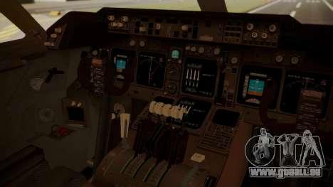 Boeing 747-8I Air India für GTA San Andreas Rückansicht