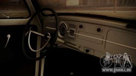 Volkswagen Beetle Aircooled pour GTA San Andreas vue de droite