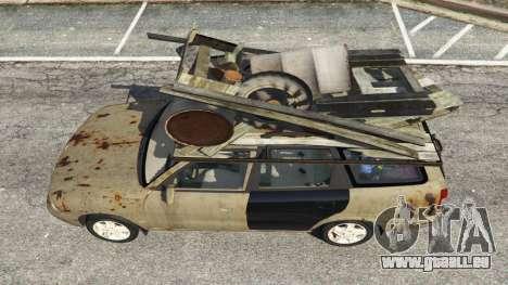 GTA 5 Daewoo Nubira I Wagon CDX US 1999 [Rusty] Rückansicht