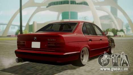 BMW 535i E34 pour GTA San Andreas laissé vue