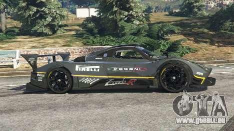 GTA 5 Pagani Zonda R 2009 v0.5 vue latérale gauche