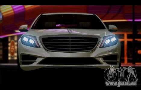 Mercedes Benz S63 W222 Des Articles De Qualité pour GTA San Andreas vue intérieure