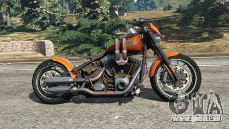 GTA 5 Harley-Davidson Fat Boy Lo Racing Bobber v1.2 vue latérale gauche