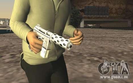 GTA 5 Tec-9 pour GTA San Andreas troisième écran