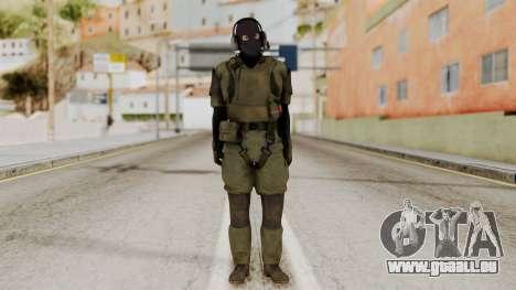 MGSV Ground Zero MSF Soldier für GTA San Andreas zweiten Screenshot
