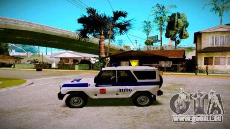 UAZ-chasseur Service PPP pour GTA San Andreas laissé vue