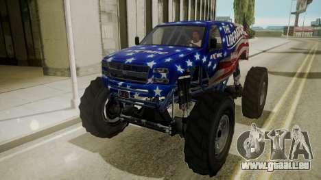 GTA 5 Vapid The Liberator IVF pour GTA San Andreas vue intérieure