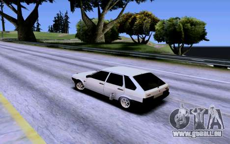 VAZ 2109 Turbo pour GTA San Andreas vue de dessous