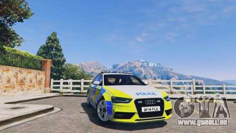 Audi A4 Avant 2013 British Police für GTA 5