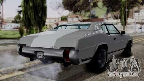 Sabre Turbo from Vice City Stories pour GTA San Andreas laissé vue