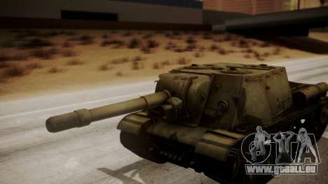 ISU-152 from World of Tanks pour GTA San Andreas vue arrière