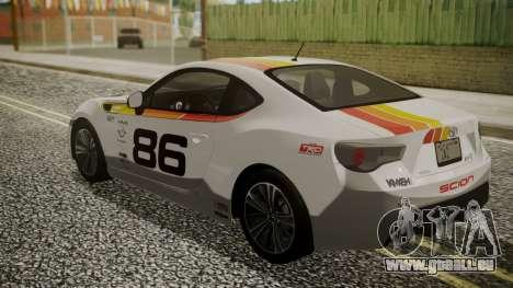 Toyota GT86 2012 für GTA San Andreas Räder