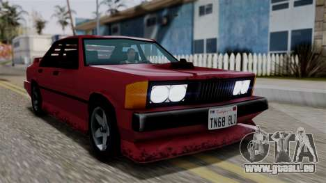 Sentinel XL from Vice City Stories pour GTA San Andreas vue arrière