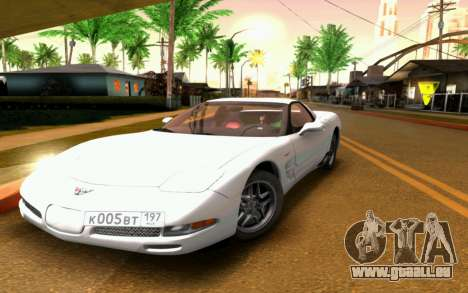 Chevrolet Corvette C5 2003 für GTA San Andreas obere Ansicht