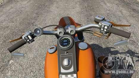 GTA 5 Harley-Davidson Fat Boy Lo Racing Bobber v1.2 arrière droit vue de côté
