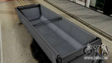 Schmied Bigcargo Solid Trailer Stock pour GTA San Andreas vue de droite