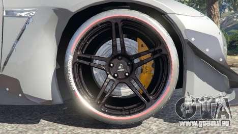 GTA 5 Nissan GT-R (R35) [RocketBunny] arrière droit vue de côté