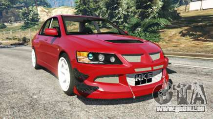 Mitsubishi Lancer Evolution IX Dk pour GTA 5