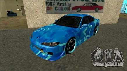 Nissan Silvia S15 Drift Blue Star für GTA San Andreas