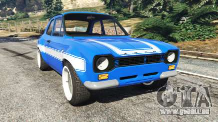 Ford Escort Mk1 v1.1 [blue] pour GTA 5