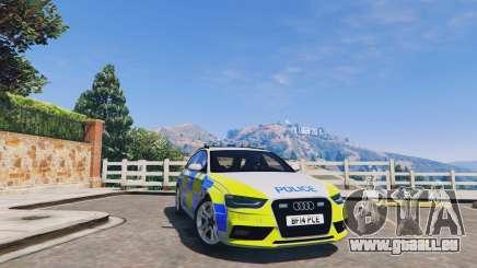 Audi A4 Avant 2013 British Police pour GTA 5