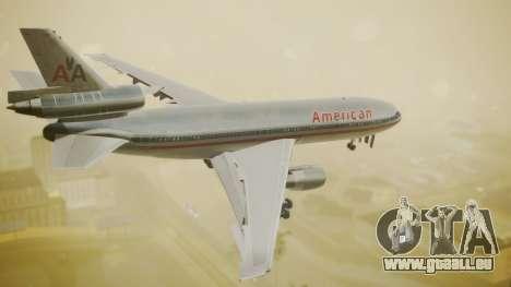 DC-10-10 American Airlines Luxury Liner pour GTA San Andreas laissé vue