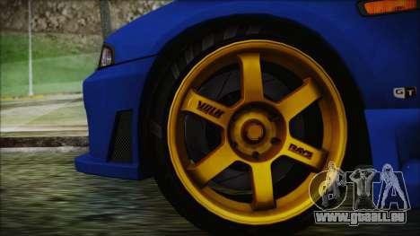 Nissan Skyline R33 Kantai Collection Kongou PJ pour GTA San Andreas sur la vue arrière gauche