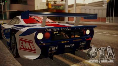 McLaren F1 GTR 1998 HarmanKardon pour GTA San Andreas vue de dessus